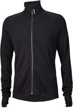 Surly Merino Wool Men's Long Sleeve Jersey: Black LG