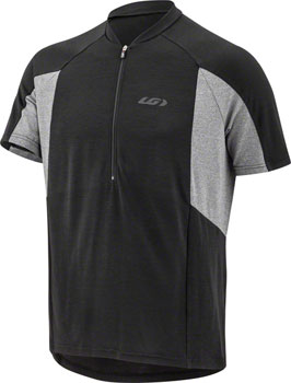 Garneau Connection Jersey - Black/Gray, Short Sleeve, Men's, Medium