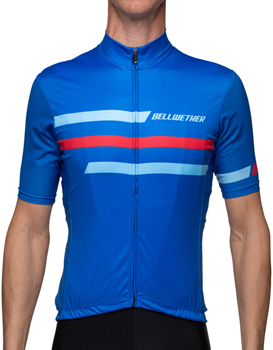 Bellwether Edge Jersey - True Blue, Short Sleeve, Men's, X-Large