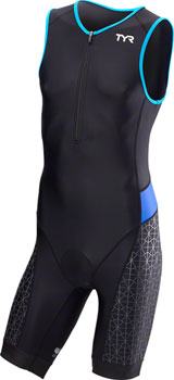 TYR Competitor Men's Singlet: Black/Blue SM