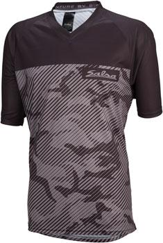 Salsa Devour MTB Jersey - Gray Camo, Short Sleeve, Men's, Medium