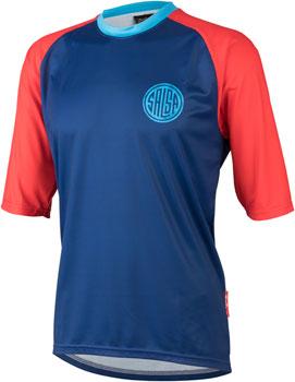 Salsa Devour Men's Short-Sleeve Jersey: Blue LG