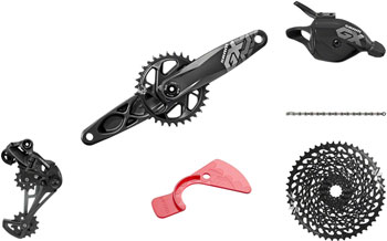 SRAM GX Eagle DUB Groupset: 170mm Boost 32 Tooth Crank, Rear Derailleur, 10-50 12 Speed Cassette, Trigger Shifter, Chain