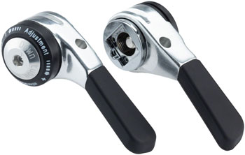 microSHIFT Down Tube Shifter Set, 9-Speed, Double/Triple, Shimano Compatible, Silver