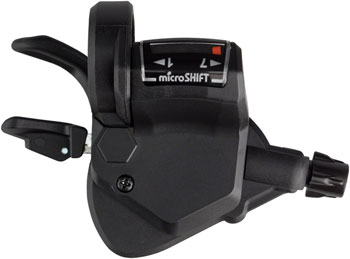 microSHIFT Mezzo Right Thumb-Tap Shifter, 7-Speed, Optical Gear Indicator, Shimano Compatible