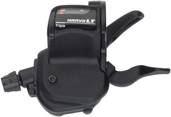 microSHIFT M759 Marvo LT 3-Speed Left Shifter with Optical Gear Indicator, Shimano Compatible, Black
