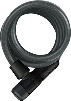 ABUS Booster 6512 Keyed Coiled Cable Lock: 180cm x 12mm With Mount, Black