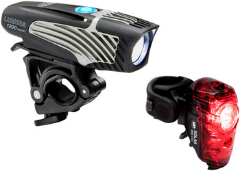 NiteRider Lumina 1200 Boost Headlight and Solas 250  Taillight Set