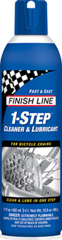 Finish Line 1-Step Cleaner and Bike Chain Lube - 17 fl oz, Aerosol