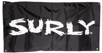 "Surly Banner, 18"" x 36"" Black, Grommets"