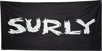 "Surly Banner 36""x72"" Black with Corner Grommets"