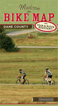 Bikeverywhere Madison and Dane County Bike Map: 4th Edition, 2015