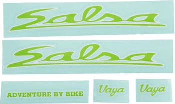 Salsa Vaya Travel Decal Set Green