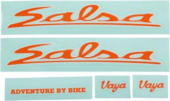 Salsa Vaya Travel Decal Set Orange