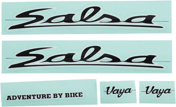 Salsa Vaya Travel Decal Set Black