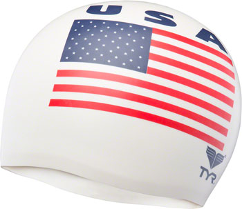 TYR Wrinkle-free Silicon Swim Cap: USA