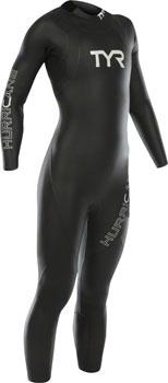 TYR Women's Hurricane Cat 1 Wetsuit: Black/Gray MD
