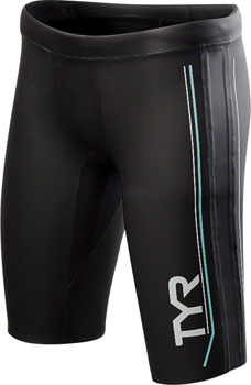 TYR Hurricane Cat 1 NEO Women's Neoprene Training and Racing Shorts: Black/Seafoam XL