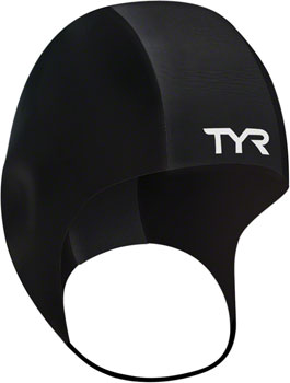 TYR Neoprene Swim Cap: Black, SM