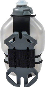 FuelBelt Helium Tech Fuel Hand-held Hydration/Phone Holster: Black/Magnet Gray, 10oz