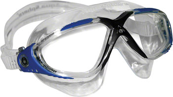 Aqua Sphere Vista Goggles: Gray/Blue with Clear Lens