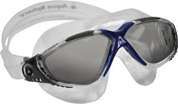 Aqua Sphere Vista Goggles: Gray/Blue with Smoke Lens