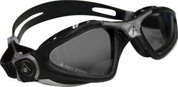 Aqua Sphere Kayenne Goggles: Black/Silver with Smoke Lens