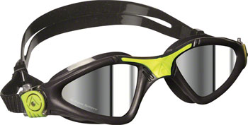 Aqua Sphere Kayenne Goggles: Grey/Lime with Mirror Lens