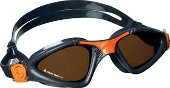 Aqua Sphere Kayenne Goggles: Gray/Orange with Polarized Lens