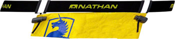 Nathan Race Number Belt: One Size Fits Most, Black