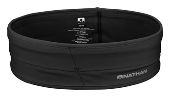 Nathan Hipster Low Profile Stretch Running Belt: Black, LG