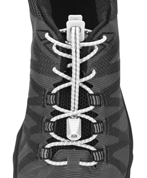 Nathan Run Laces Reflective: One Size Fits All, White