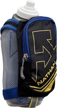 Nathan SpeedDraw Plus Insulated Handheld Hydration - 18oz, Black/Deep Ultramarine/Limelight