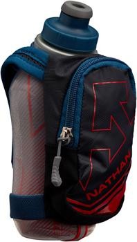 Nathan SpeedShot Plus Insulated Handheld Hydration - 12oz, Black/Sailor Blue/High Risk Red