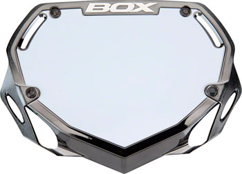 BOX Components Phase 1 Number Plate Small Black Chrome