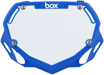 BOX Two Number Plate Large Blue