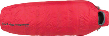 Big Agnes, Inc. Gunn Creek 30F Sleeping Bag: Synthetic, Red, Long