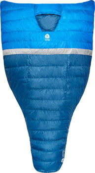 Sierra Designs BackCountry Quilt Sleeping Bag, 35F, 700fill DriDown, Blue