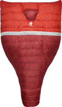 Sierra Designs BackCountry Quilt Sleeping Bag, 20F, 700fill DriDown, Red