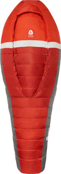 Sierra Designs BackCountry Bed Sleeping Bag, 20F, 700fill DriDown, Long, Red/Gray