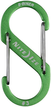Nite Ize S-Biner No.3 Aluminum Dual Carabiner: Each, Anodized Lime