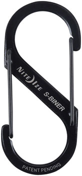 Nite Ize S-Biner No.3 Aluminum Dual Carabiner: Each, Anodized Charcoal