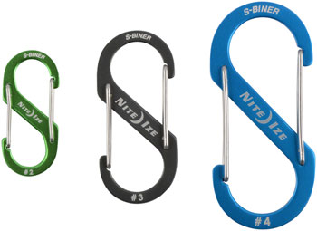 Nite Ize S-Biner Aluminum Dual Carabiner: 3-Pack, Assorted Anodized Colors