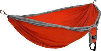Eagles Nest Outfitters DoubleDeLuxe Hammock, Orange/Gray