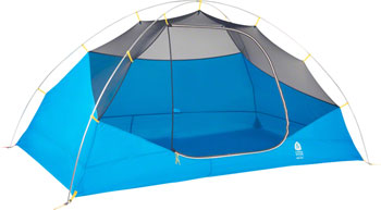 Sierra Designs Summer Moon 2 Shelter, Silver Lining/Blue Jewel, 2-person