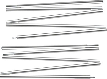 "Sierra Designs 50"" Accessory Poles for High Route 1FL or Tensegrity Shelters: 12.5"" sections, Pair"