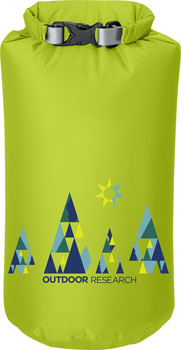 Outdoor Research Graphic Dry Sack: Woodsy/Lemongrass, 10L