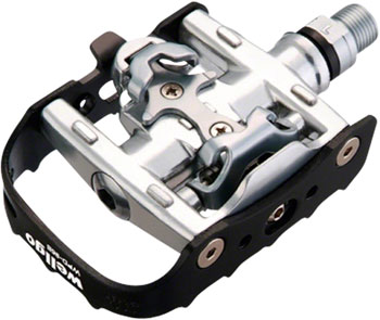 Wellgo WPD-95B Pedals - Single Side Clipless with Platform, Aluminum, 9/16