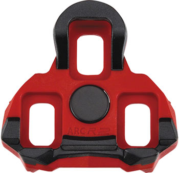 Exustar ARC R2 Look Keo Cleats, 6 Degree Red