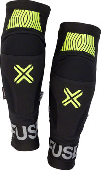 Fuse Protection Omega Knee Pad: Black/Neon Yellow, XL/2XL, Pair